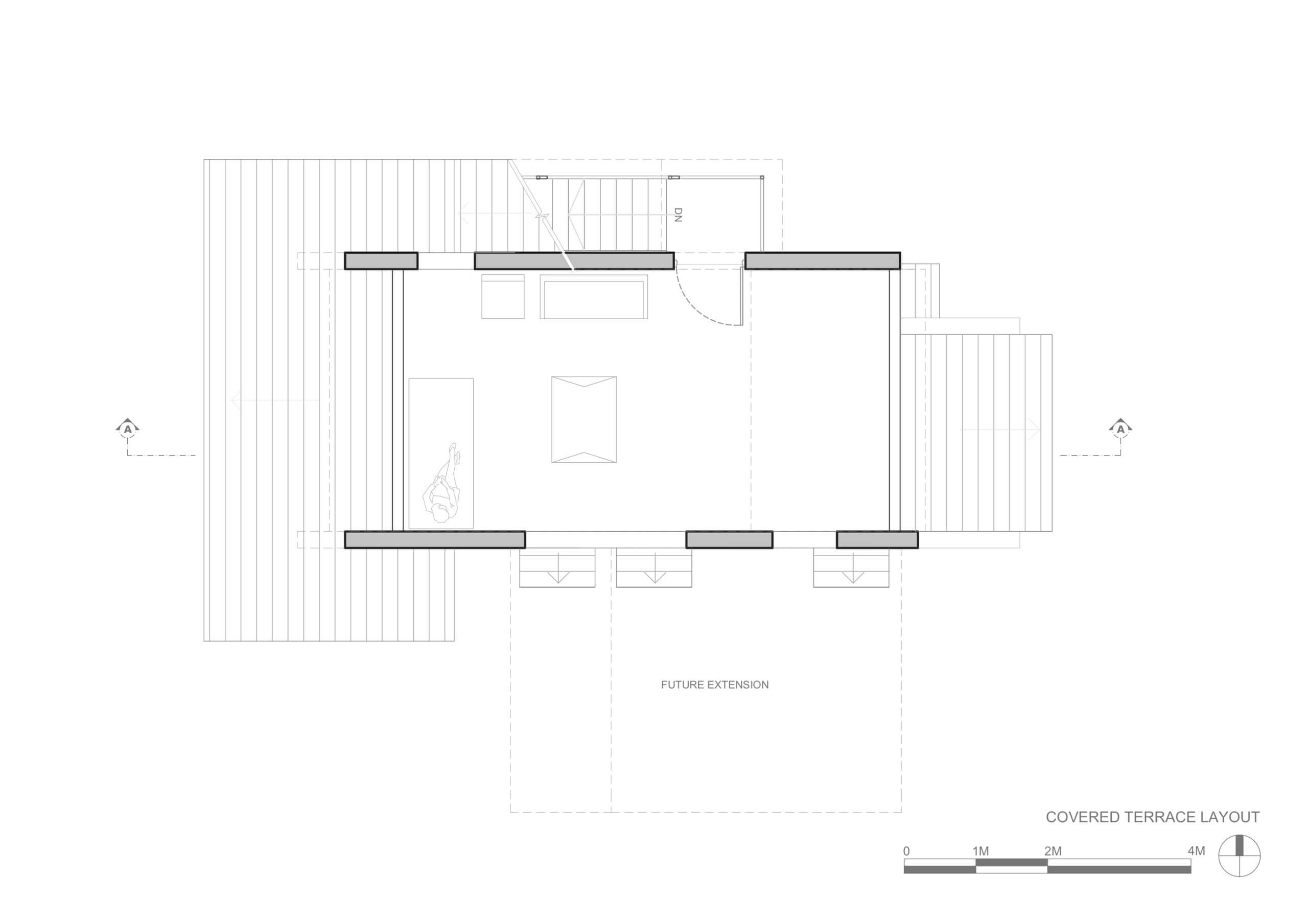 Covered terrace plan