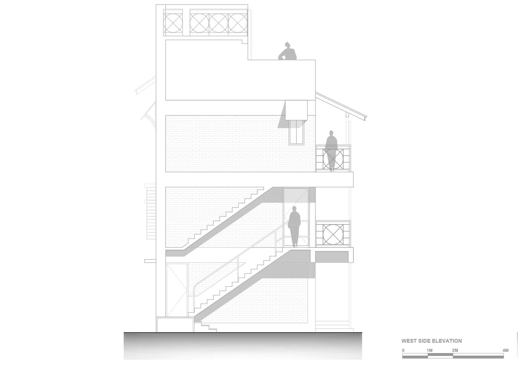 7- West side elevation