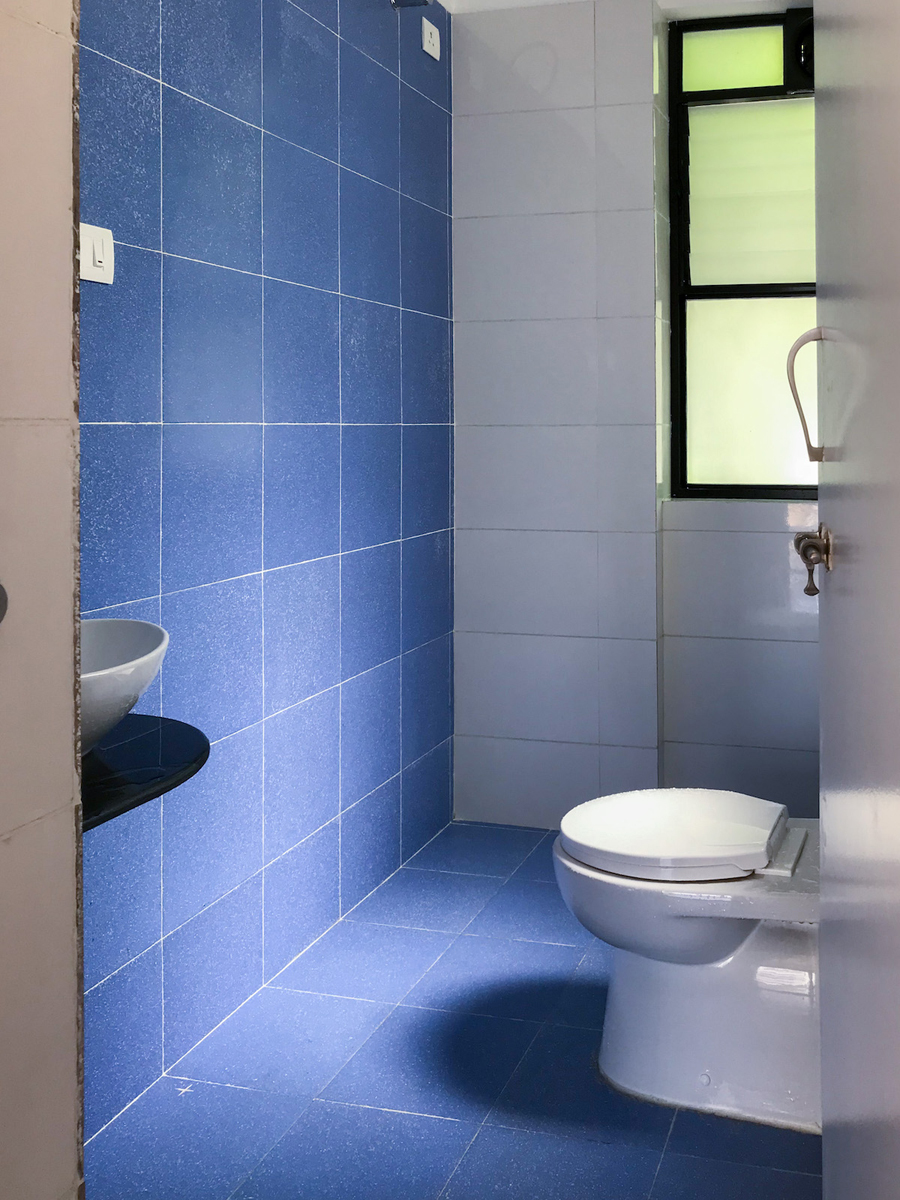 15. Naturally lit simple toilets